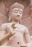 Witte steen die Boedha met naga 02 snijden Royalty-vrije Stock Afbeelding