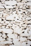 Witte steen geschilderde muurtextuur van Griekenland stock afbeeldingen