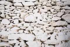 Witte steen geschilderde muurtextuur van Griekenland royalty-vrije stock afbeeldingen