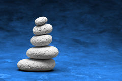 Witte Stenen in de stapel van A Stock Afbeelding