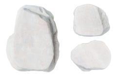 Witte stenen die op witte achtergrond worden geïsoleerd Royalty-vrije Stock Foto's