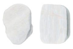 Witte stenen die op witte achtergrond worden geïsoleerd Stock Afbeelding