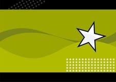 Witte ster en groene golven Stock Foto's