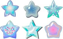 Witte sterren Stock Afbeeldingen