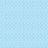 Witte stip en witte gestormde de pastelkleurblu van het lijn gestreepte patroon Royalty-vrije Stock Afbeeldingen