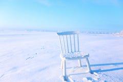 Witte stoel Stock Foto's