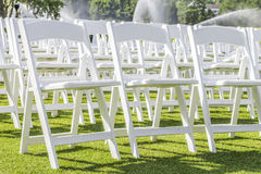 Witte stoelen Royalty-vrije Stock Afbeeldingen