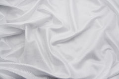 Witte Stof 3 van het Satijn/van de Zijde Stock Afbeelding