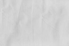 Witte stoffentextuur Stock Afbeelding