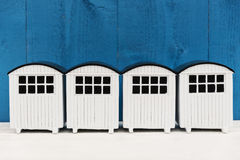 Witte strandhuizen Stock Fotografie