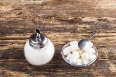 Witte suiker stock afbeelding