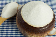 Witte suiker in een pot Royalty-vrije Stock Afbeeldingen