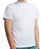 Witte t-shirt Stock Afbeelding