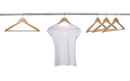 Witte t-shirt stock afbeeldingen