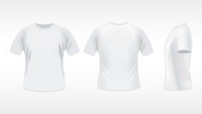 Witte T-shirt stock illustratie