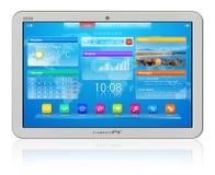 Witte tabletPC Royalty-vrije Stock Foto's