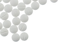 Witte tabletten Stock Foto