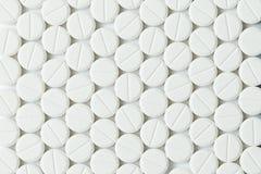 Witte tabletten of geneeskunde Stock Afbeeldingen