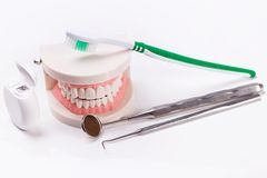 Witte tanden Royalty-vrije Stock Foto's