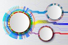 Witte Technologie Abstracte kring, hi-tech computer digitale technologie Royalty-vrije Stock Afbeeldingen