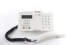 Witte telefoon Stock Foto
