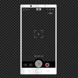 Witte telefooncamera verticale beeldzoeker vector illustratie