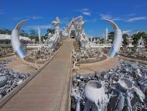 Witte Tempel in Chiang Rai, Thailand Royalty-vrije Stock Afbeeldingen