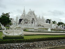 Witte tempel, Chiang Rai, Thailand Royalty-vrije Stock Afbeelding