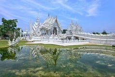 Witte tempel in chiangrai royalty-vrije stock foto's