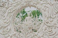 Witte Tempel dichtbij door Chiang rai, Thailand Royalty-vrije Stock Foto's