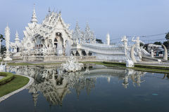 Witte tempel in Thailand Royalty-vrije Stock Fotografie