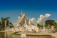 Witte Tempel Wat Rong Khun Stock Afbeelding