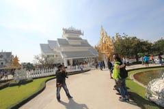 Witte Tempel, Wat Rong Khun in Chiang Rai, Thailand stock fotografie