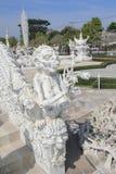 Witte Tempel, Wat Rong Khun in Chiang Rai, Thailand royalty-vrije stock foto