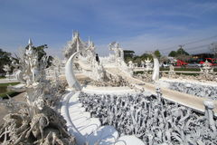 Witte Tempel, Wat Rong Khun in Chiang Rai, Thailand royalty-vrije stock fotografie