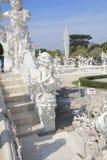 Witte Tempel, Wat Rong Khun in Chiang Rai, Thailand royalty-vrije stock foto's
