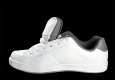 Witte tennisschoen Stock Afbeelding