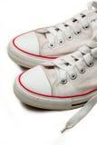 Witte Tennisschoenen Stock Foto's