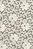 Witte textiel met gestileerde bloemen Stock Foto's