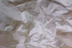 Witte textuurachtergrond Verfrommeld document stock fotografie
