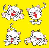 Witte tijger stock illustratie
