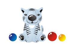 Witte tijgerwelp Royalty-vrije Stock Afbeeldingen