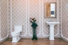 Witte toiletkom in de badkamers vector illustratie