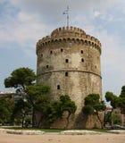 Witte Toren in Thessaloniki stock afbeelding