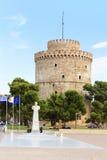 Witte Toren in Thessaloniki, Griekenland Stock Fotografie