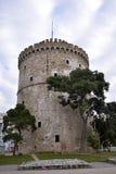 Witte Toren van Thessaloniki, Griekenland stock afbeeldingen