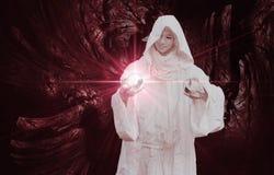 Witte Tovenaar Stock Foto's