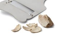 Witte truffel en snijmachine royalty-vrije stock foto