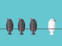 Witte unieke onafhankelijke vogel royalty-vrije illustratie