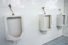 Witte urinoirs Stock Fotografie